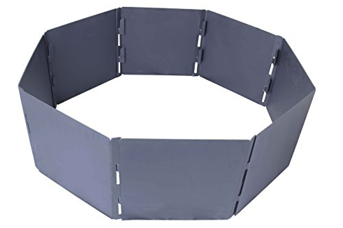 TITAN GREAT OUTDOORS Portable Fire Pit Ring 31' Diameter Heavy Steel for Campfires and Bonfires