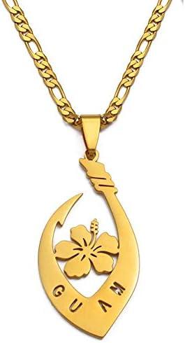 VUHAI - Hibiscus Flower Guam Pendant online shopping 2021 model Gol For Women Necklaces Men