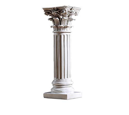 SDBRKYH Columna Romana zócalo, Pilar corintio Columna Romana Escultura arquitectónica Decoración Escritorio casero Resina Artesanal
