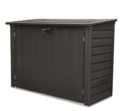 Spacemaker Mülltonnenbox, Aufbewahrungsbox, Gerätebox Onyx schwarz // 183x75x128 cm // Mülltonnenunterstand & Mülltonnenverkleidung