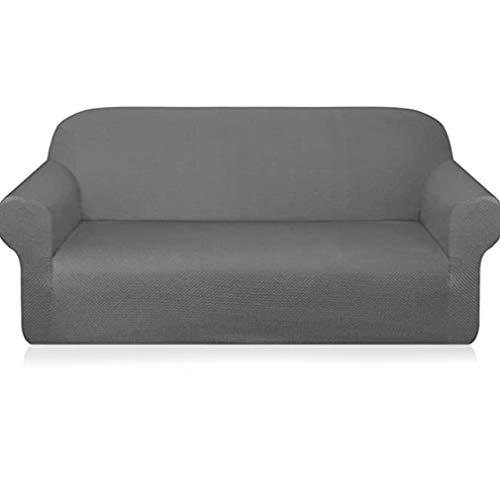 WXZQ Funda de sofá elástica Universal con Todo Incluido Funda de sofá de Tela Impermeable Antideslizante Cojín de sofá de combinación Funda de sofá Gris Claro Asiento Individual