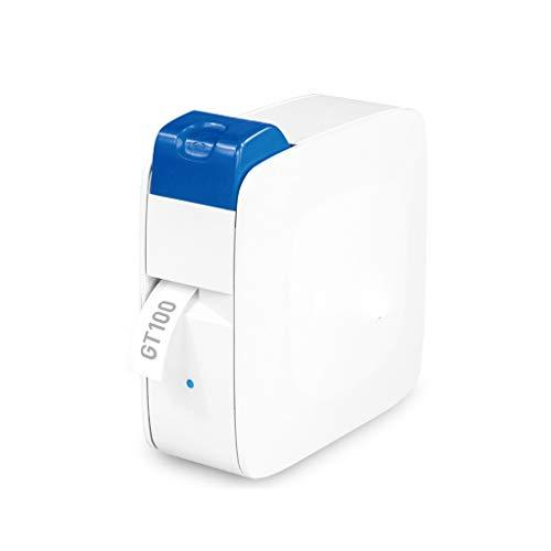 SMEJS Etiqueta inalámbrica Marcador de Impresora Transferencia térmica Impresora Manual Corte 6-14mm Etiqueta Ancho Soporte 8 Idiomas con 3 Rollos de Papel (Color : A)