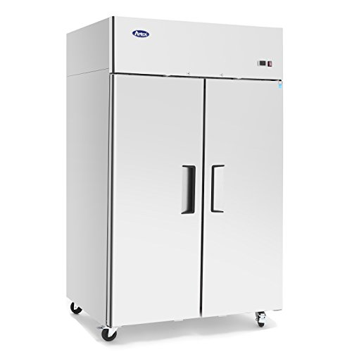 Commercial Refrigerator,ATOSA MBF8005 Double 2 Door Side By Side Stainless Steel Reach in Commercial...
