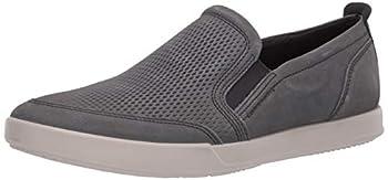 ECCO mens Collin 2.0 Casual Slip Sneaker Moonless Nubuck 6-6.5 US