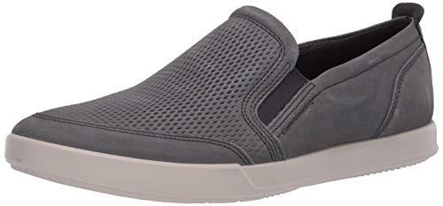ECCO mens Collin 2.0 Casual Slip Sneaker, Moonless Nubuck, 9-9.5 US