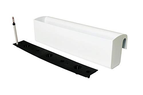 Vivanno Balkonkasten mit Halterung & Bewässerungssystem Weiß BALKONA Classico 80 cm