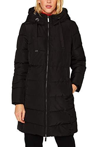 ESPRIT Damen 099Ee1G027 Mantel, Schwarz (Black 001), Small (Herstellergröße: S)