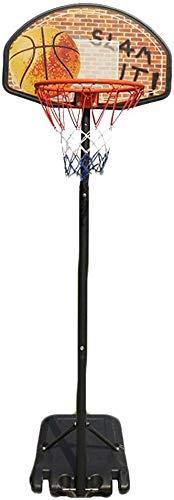 Tragbare Kinder Sport-Basketball-Zielbrett Rückenbrett Zielsystem Gerüst Kinder Outdoor-Sport-Ausrüstung mit Rollen, höhenverstellbar 75-96 Zoll,as shown