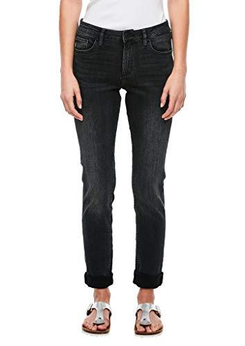 Q/S designed by Damen 45.899.71.3241 Slim Jeans, Grau (Denim Grey 95z4), (Herstellergröße: 42/34)