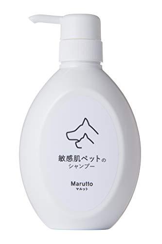 マルット 敏感肌 ペット の為の 香料0.00% アミノ酸系 低刺激 ペットシャンプー【 弱酸性/無香料/無着色/肌荒れしっとり 犬用 猫用/無添加 】500ml