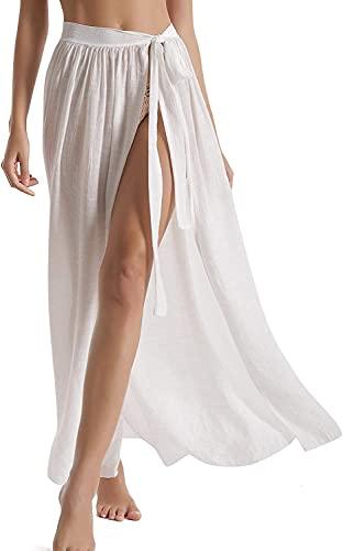 copricostume donna trasparente JFAN Donna Pareo Elegante Chiffon Cover Up Wrap Sarong Spiaggia Lato Aperto Copricostumi