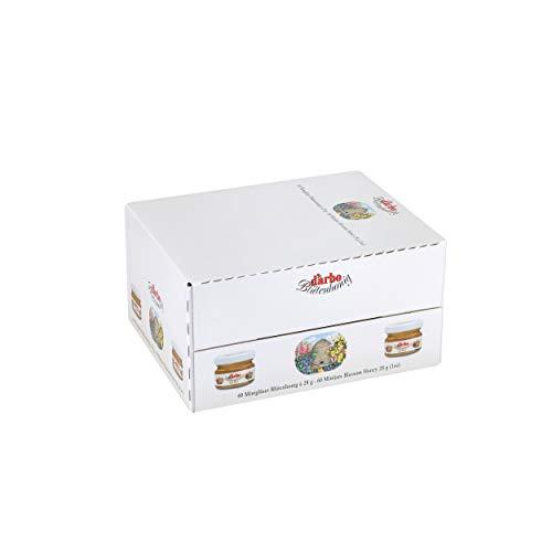 Darbo Blütenhonig im Miniglas, Brotaufstrich, Brot Aufstrich, Honig, für Gastro, Hotel, Büro, Kantine, 60 Stück á 28 g