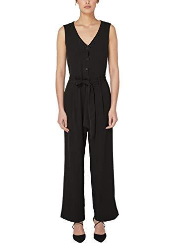 s.Oliver BLACK LABEL Damen 22.905.85.5640 Jumpsuit, Schwarz (Grey/Black 9999), (Herstellergröße: 40)