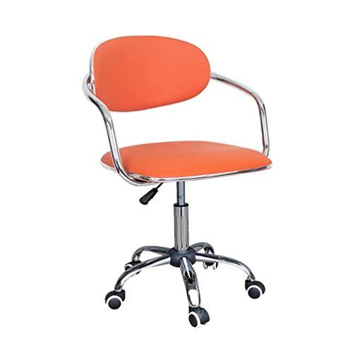 YLCJ Computer Stuhl Einfache Home Study Drehstuhl Rattan Zurück Registrierkasse Front Desk Chair (Farbe: D)