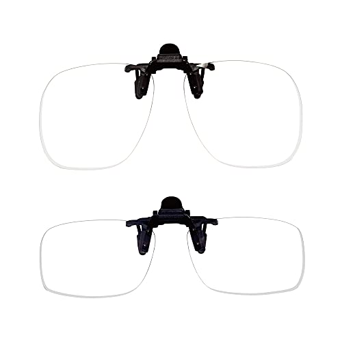メガネの上から老眼鏡 前掛け クリップオン クリップアップ 老眼鏡 Lサイズ +1.5 【DIY/園芸/釣り/裁縫/ホビー/料理】 【軽量&コンパクト】 東レ トレシー クリーニングクロス セット