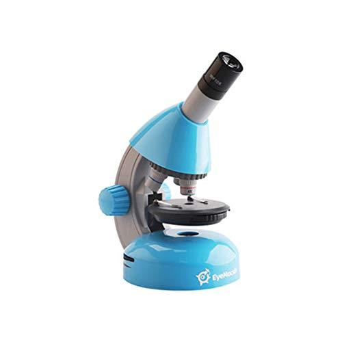 FSYGZJ Junior Schülermikroskop mit Smartphonehalter,20-faches Okular, bis zu 800-fache Gesamtvergrößerung,einfacher Einstieg in die Mikroskopie,mit Präparierzuberhör,