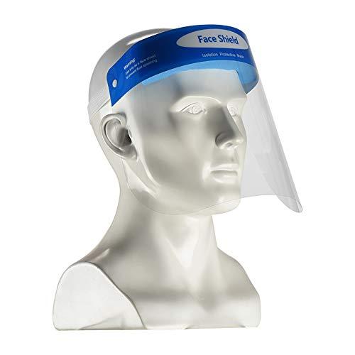 2X Face Shield Gesichtsschutz | Visier aus Kunststoff | Spuck Schutz - Premium Gesichtsschutz
