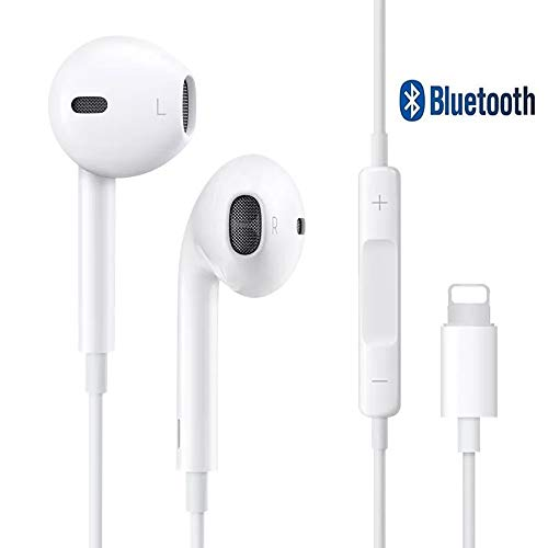Auriculares,Auriculares con micrófono,in-Ear Auriculares Compatible con iPhone 7, 7 Plus, 8, 8 Plus, X, iPhone XS MAX -Conexión Bluetooth