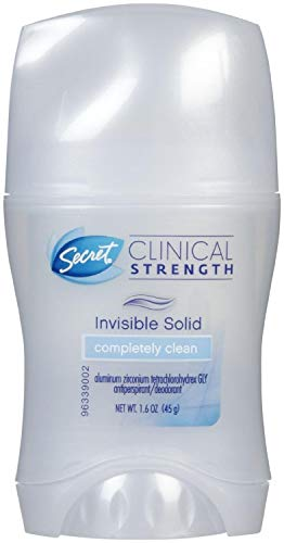 Secret Clinical Strength Invisible Solid Antiperspirant & Deodorant, Completely Clean 1.60 oz by Secret