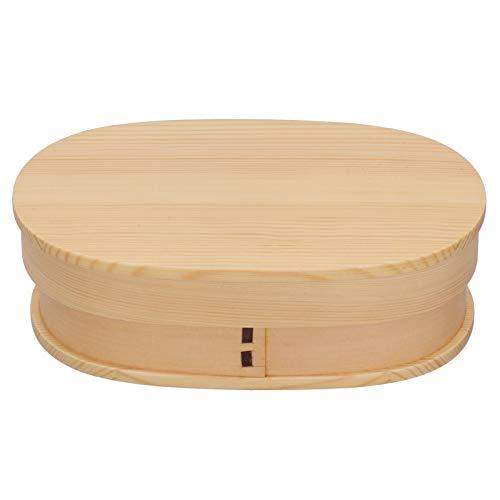 YICHENGqiche Caja Bento para Adultos Caja Bento de Madera Caja de Almacenamiento Dealimentos de Una Sola Capahermosa Simple para Lonchera