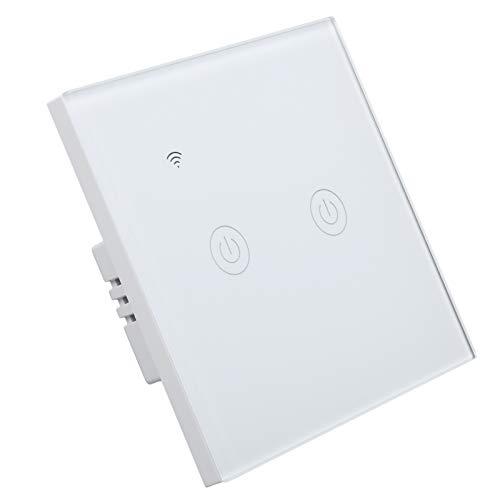 Interruptor inteligente WiFi, interruptor de pared táctil de 2 vías, interruptor inalámbrico de control remoto para teléfono móvil DS ‑ 101‑2 200‑240VAC