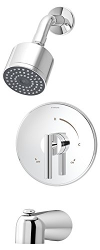 Symmons 3502-CYL-B-TRM Dia Tub/Shower System Trim (Valve Not Included), Chrome