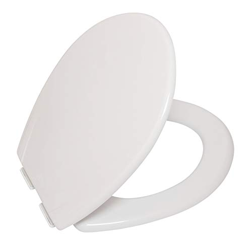 ATD WC Toilet Seat with Slow Soft Close, Bottom Fixing...