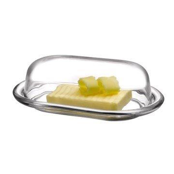 Pasabahce 98402 – Butterdose, Frischhaltedose Basic 19,7 x 13,1 cm, 2-TLG aus Glas