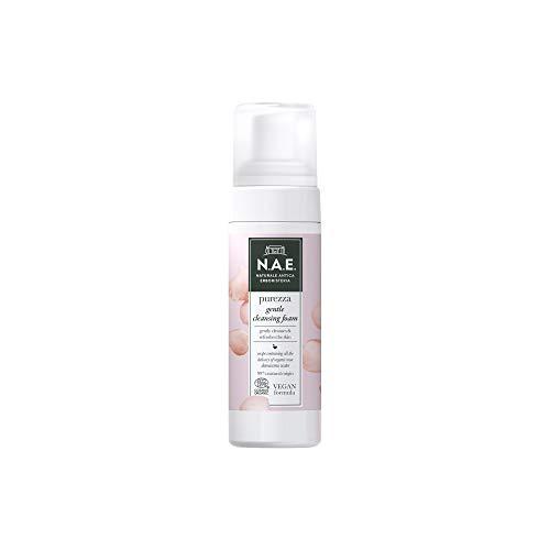 N.A.E. Mousse Detergente Delicata Purezza, Struccante Viso con Acqua di Rosa Damascena Biologica, Formula Vegana, 150 ml