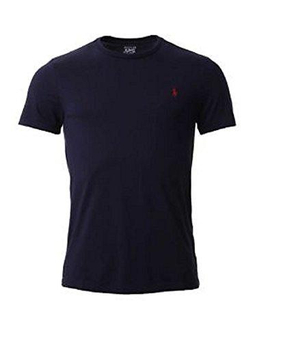 Ralph Lauren - Maglietta girocollo a maniche corte, da uomo, vestibilità personalizzata blu navy XL