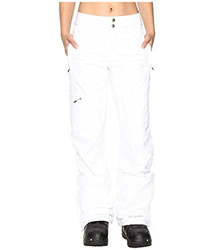 Columbia Pantalón de esquí impermeable para mujer, Veloca Vixen Pant, Poliéster, Blanco, Talla XS, 1681451