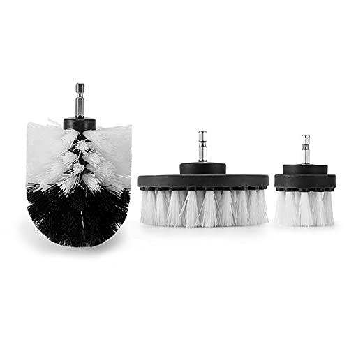 3 Pcs/Set Drill Brush Car Washing Detail Brush Carpet Boat Cleaning Accessories