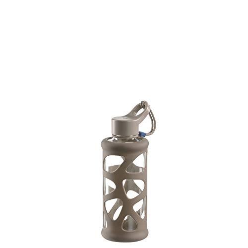 Leonardo 029238 In Giro Gourde en verre borosilicate 700 ml Étui de protection résistant aux chocs Beige