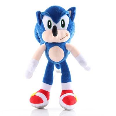 ODEUXS ratón supersónico transfronterizo de peluche de juguete Sonic de peluche de juguete erizo muñeca 28CM