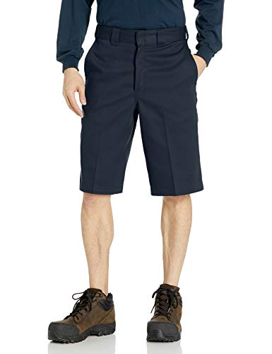 Dickies Men's 13 Inch Flex Multi-Pocket Work Short Loose Fit, Dark Navy, 34