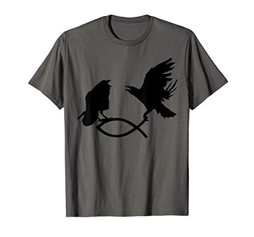Hugin & Munin fangen Christenfisch T-Shirt