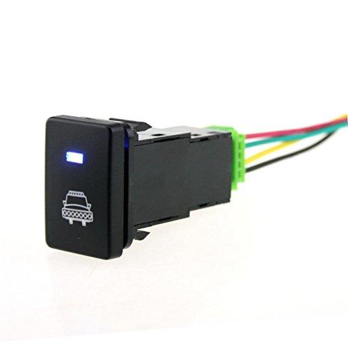 Shiwaki Interruptor De Botón Pulsador De 4 Polos LED Azul para Toyota Camry Land Cruiser Hilux - Patrón de Faros