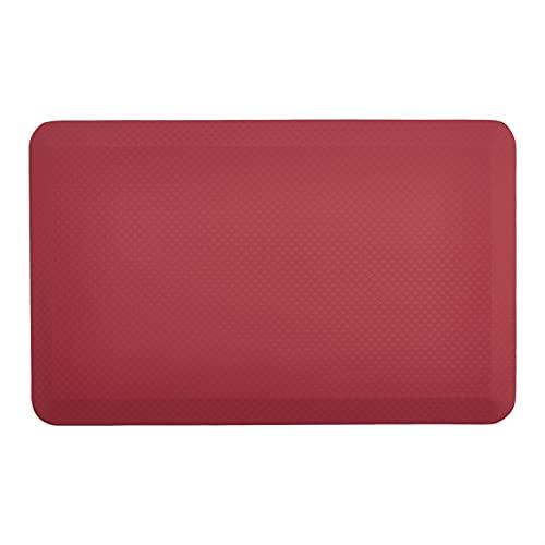 Amazon Commercial - Esterilla antifatiga, cómoda y ergonómica para estar de pie, 1,9cm de grosor, 50,8x 81,2cm, color rojo