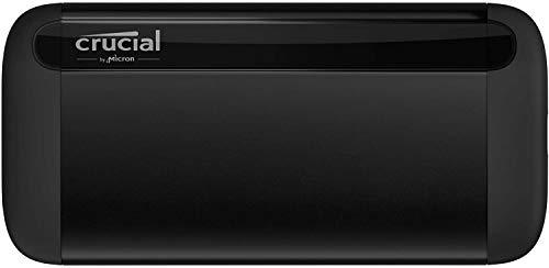 Crucial CT1000X8SSD9 X8 1To Portable SSD – Vitesses atteignant 1050Mo/s – USB 3.2 – Lecteur d'état solide externe, USB-C, USB-A