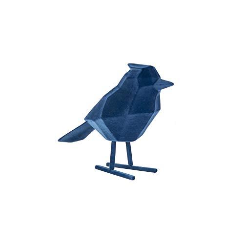 Present Time Statue Bird Large Polyrésine Flocked Dark Blue