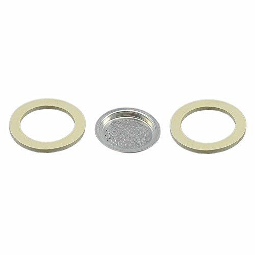 Calder 2 guarnizioni + 1 Filtro Alluminio Moka 1/2 Tazza Mezza Tazza