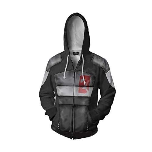 Shuihua - Kapuzenpullover NoMan'sLand Serie Cosplay Hoodies, jakobs/Vlodaf/Hyperion/Torgue/Boroerlands/Maliwan/NPC Cosplay Hoodie, Anime Game 3D Printing Hoodys Zipper-Jacke (Color : N, Size : Small)