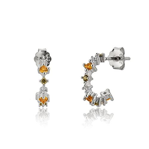 100% Plata 925, oro, 18 mm, pendiente de perno prisionero de escalador, pasador de oreja de hilo fino, Piercing de circonita de cristal de lujo, joyería, aros medios de 8 mm