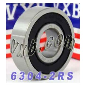 6304 20x52x15mm 2RS Rubber Sealed SKF Radial Deep Groove Ball Bearing