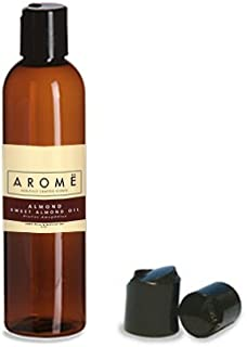 Aromë SWEET ALMOND OIL (CARRIER OIL FOR ESSENTIAL OILS), 4oz - Carrier Oil and Base Oil Liquid For Aromatherapy - Hair and Skin Use, Massage Oil & More. Works Perfect with Roller Bottles.