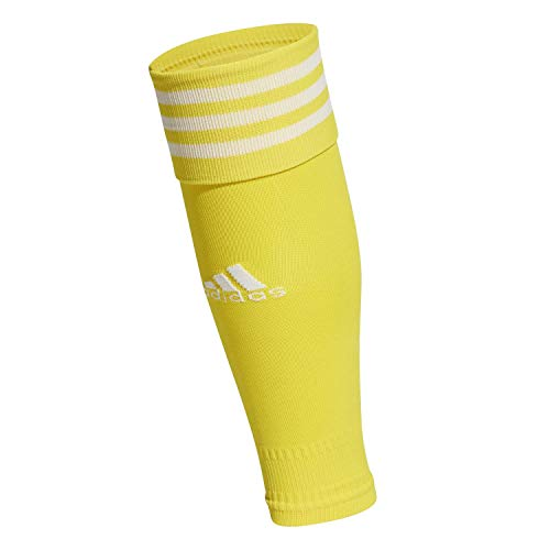 adidas Team Sleeve 18, Scaldamuscoli Unisex Adulto, Giallo/Bianco, 2730
