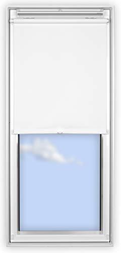 EFIXS Hitzeschutz-Rollo für Velux Kunststoff Dachfenster, garantiert ohne Bohren, Größe MK08, Typ GGU, GGL, GPU, GPL, GTU, GTL, GXU, GXL