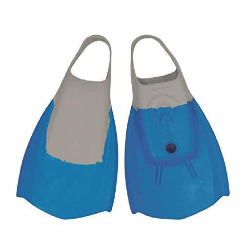 Wave Power Bodyboard Flossen XL 44-46 Blau Grau Schwimmflossen swimfins