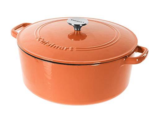 Cuisinart Cast Iron Casserole Terracotta Orange 7Quart