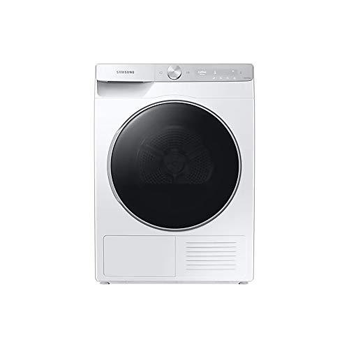 Samsung Elettrodomestici DV90T8240SH/S3 Asciugatrice Ai Control Silent Dry, Front Load, 9 kg, Bianco, Pannello Argento